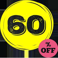60% скидка
